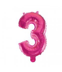 Folie tal ballon 3 pink, 41 cm