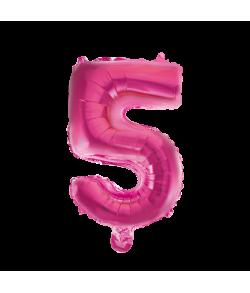 Folie tal ballon 5 pink, 41 cm.
