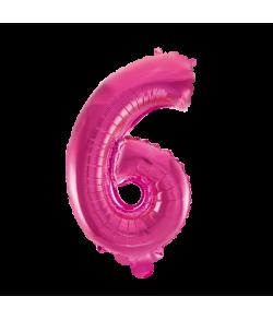 Folie tal ballon 6 pink, 41 cm