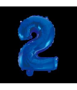 Folie tal ballon 2 blå, 41 cm