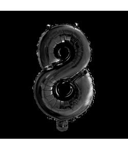 Folie tal ballon 8 sort, 41 cm.
