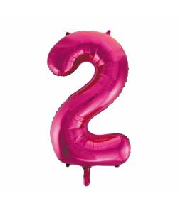 Folie tal ballon 2 pink, 86 cm.