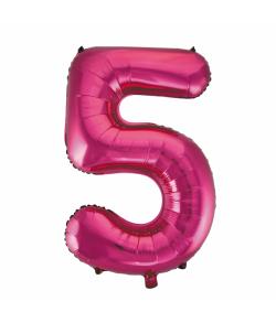 Folie tal ballon 5 pink, 86 cm.