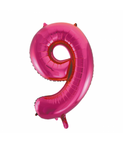 Folie tal ballon 9 pink, 86 cm.