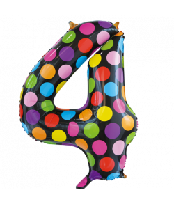 Folie tal ballon 4 Dots, 86 cm.