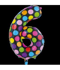 Folie tal ballon 6 Dots, 86 cm.
