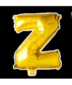 Guld folie bogstav ballon med bogstavet Z.