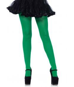Grønne nylon strømpebukser.