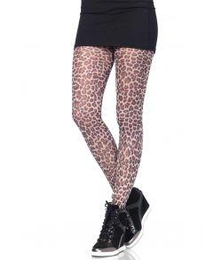 Strømpebukser med leopard mønster.