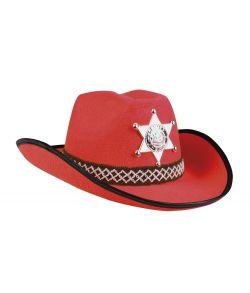 Flot rød cowboyhat til børn.