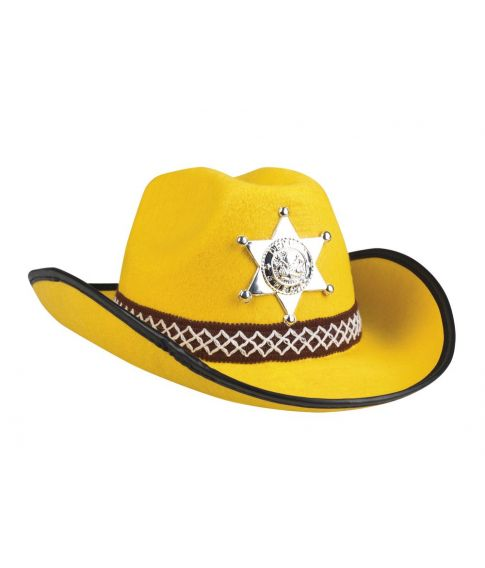 Billig gul cowboyhat til børn.