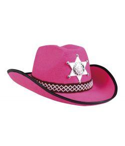 Billig pink cowboyhat til børn.