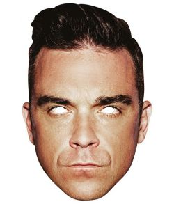 Robbie Williams papmaske.