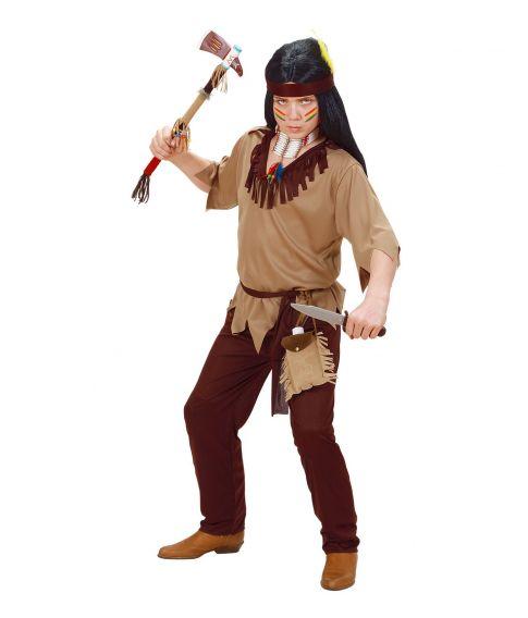 Billigt Indianer dreng kostume.