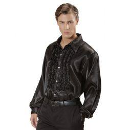 Sort flæseskjorte til 70er 80er udklædningen.