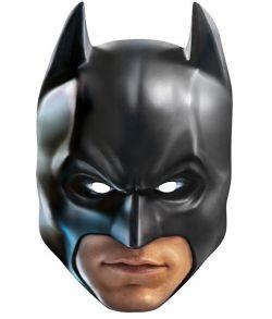 Batman maske i pap med elastik.