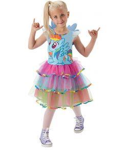 Rainbow Dash kjole i flotte farver med små vinger.