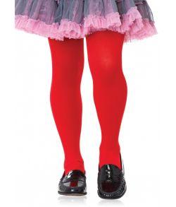 Røde strømpebukser til børn i 100% nylon.