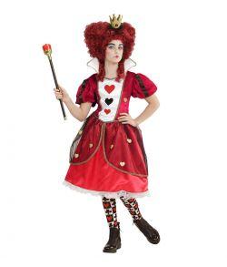 Hjerter dronning kostume til børn.