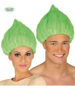 Grøn Trolls paryk til voksne.