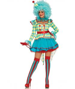 Deluxe Carnival Clown kostume
