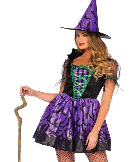 Flot heksekostume til halloween.