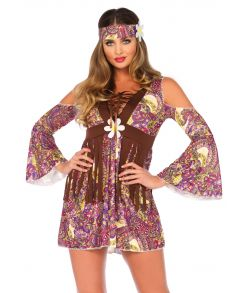Billig 60er hippie kjole.