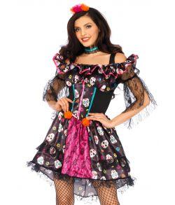 De Dødes Dag kostume til damer.