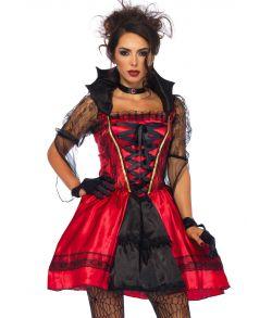 Flot vampyr kjole til halloween.