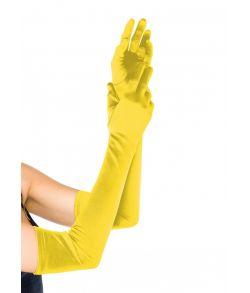 Lange gule handsker til udklædning.
