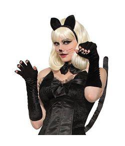 Lange sorte handsker, velour