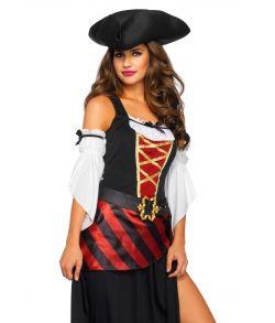 Flot pirat kostume med lang kjole.