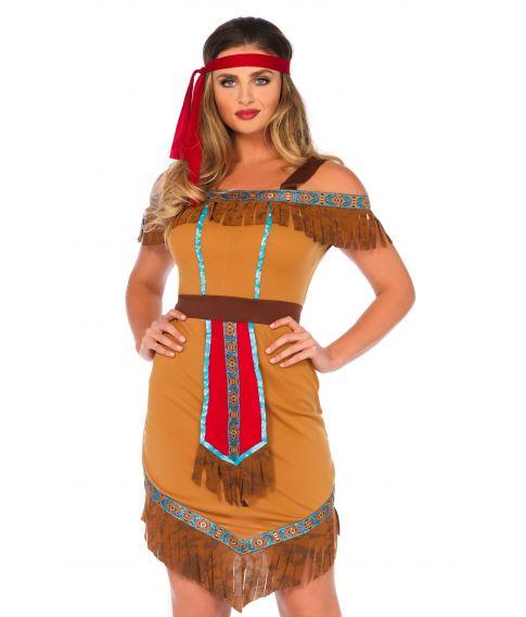 Billigt indianerkostume til sidste skoledag.