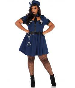 Flot Politi kostume til store damer.