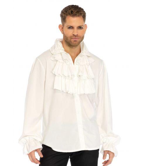 Hvid pirat flæseskjorte.