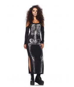 Flot skelet kjole til halloween udklædningen.
