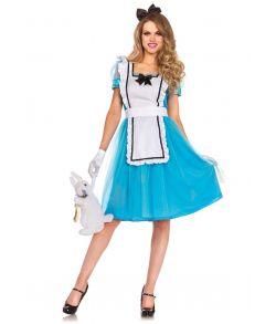 Klassisk Alice i Eventyrland kostume.
