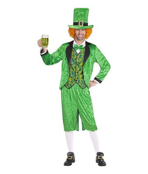 Sjovt grønt kostume til Sankt Patricksdag.