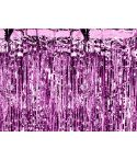 Hot Pink Folie gardin, 90 x 250 cm