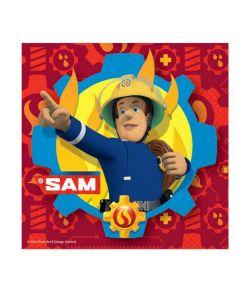 Brandmand Sam servietter 33x33 cm