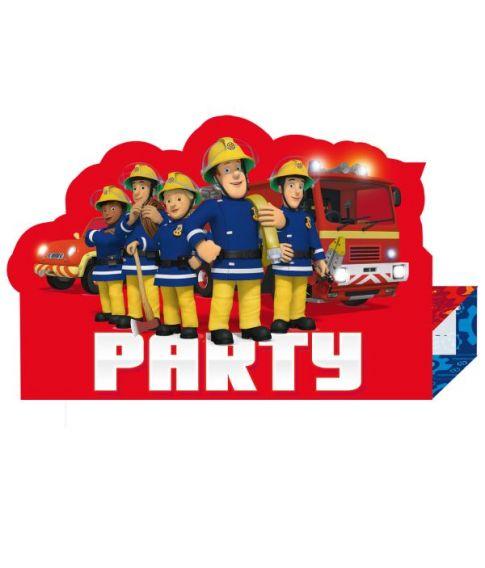Brandmand Sam invitationer