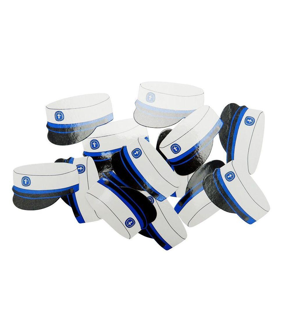 20 stk strøpynt med blå studenterhuer, 6 cm.