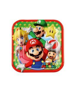 Super Mario Tallerken 18x18 cm