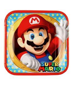 Super Mario tallerken 23x23 cm