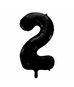 Folie tal ballon 2 sort, 86 cm.