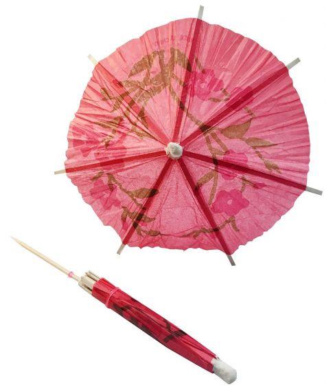 6 stk papir parasol til drinks og desserter.