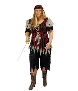 Pirat kostume til store damer.