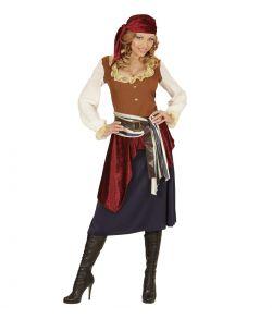 Billigt pirat kostume til damer.