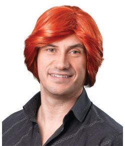 Billig rødhåret paryk til 70er udklædningen.