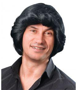 Billig sort paryk til 70er udklædningen.